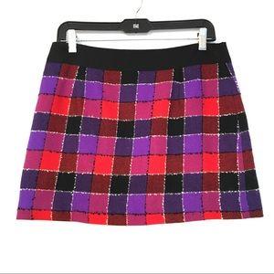 Milly modern plaid mini skirt. Size 4.